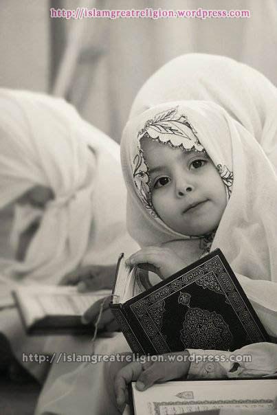 Muslim girl Wearing Hijab,Holding Quran!