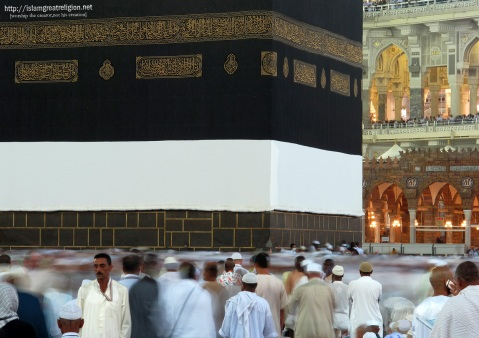 Tens of thousands of Muslim pilgrims move around the Kaaba, the black cube, inside the Grand Mosque, in Mecca, Saudi Arabia, on October 30, 2011. (AP Photo/Hassan Ammar)