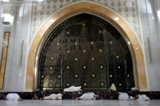 Muslim pilgrims sleep inside the Grand Mosque in the Saudi holy city of Mecca. Nov. 9, 2010. (Mustafa Ozer - AFP/Getty Images)
