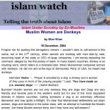 Islam make Women Donkey,lie Exposed