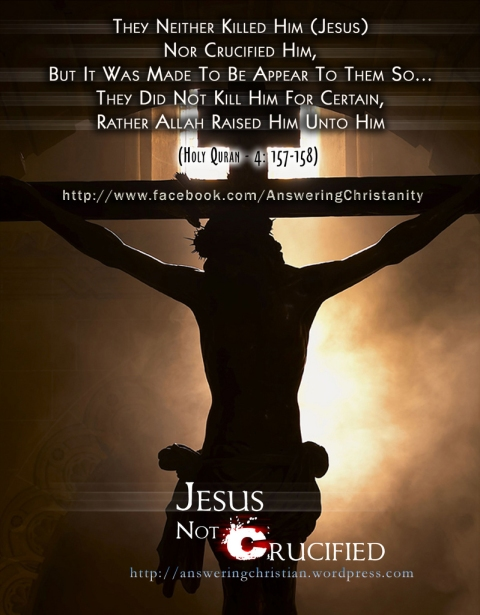 Jesus was not crucified