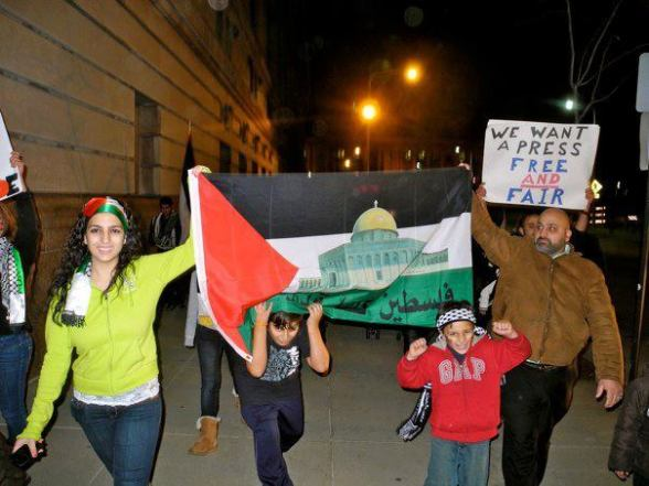 Cleveland Ohio US, protest against #Israeli's attacks on #Gaza  -  Nov 16, 2012