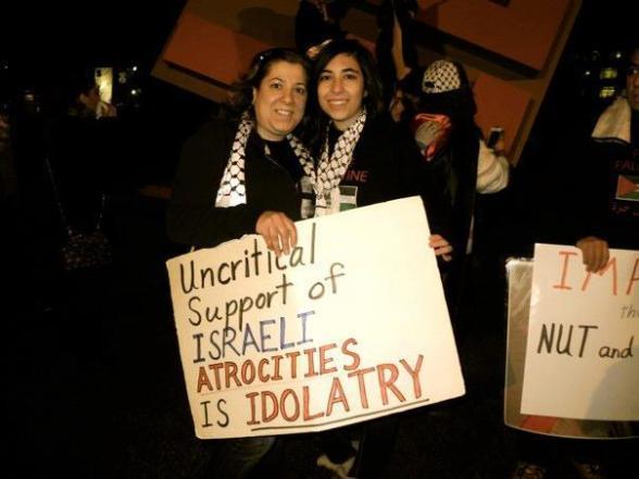 Cleveland Ohio US, protest against #Israeli's attacks on #Gaza  -  Nov 16, 2012