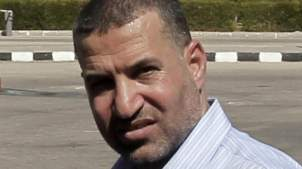 (FILES) A file picture dated on October 18, 2011 shows the head of the military wing of the Hamas movement the Ezzedin Qassam Brigades , Ahmed Jaabari at the Rafah border crossing with Egypt. The top Hamas commander Ahmed Jaabari was killed in an Israeli strike on November 14, 2012. AFP PHOTO/MAHMUD HAMS (Photo credit should read MAHMUD HAMS/AFP/Getty Images)