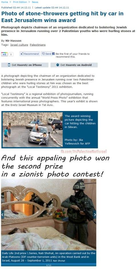Killing of Palestine mens Photo win Awards