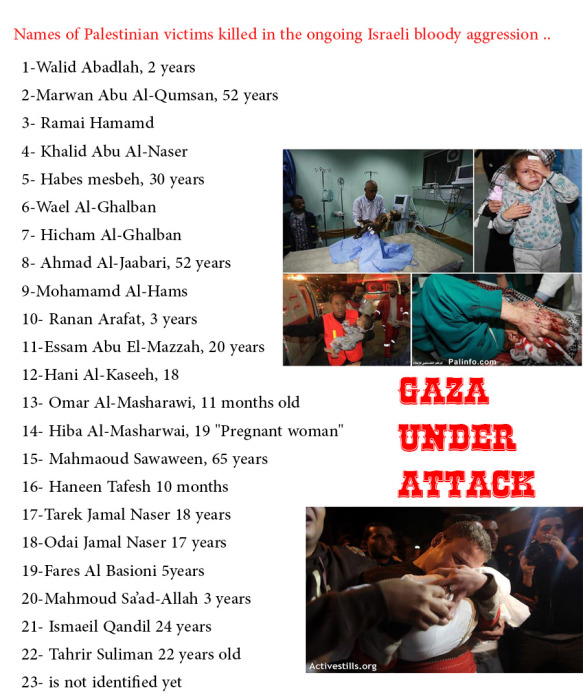 names of shuhada of Gaza