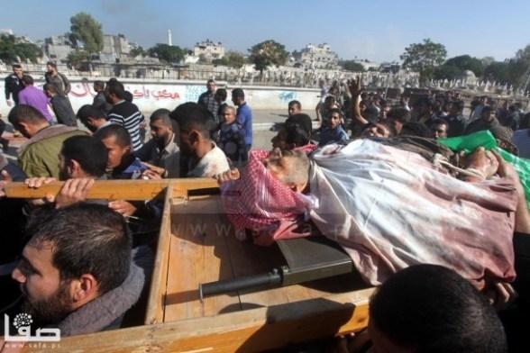 The Funeral of Ahmad al-Ja'bari in Gaza - Nov 15, 2012 Photo by Safa.ps