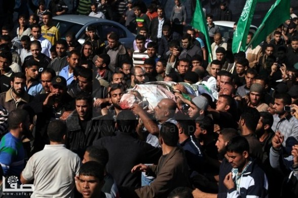 The Funeral of Ahmad al-Ja'bari in Gaza - Nov 15, 2012 Photo by Safa.ps