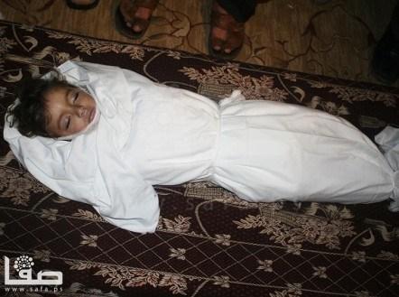 Child martyr - Nov 16 2012 Gaza Under Attack Photo by Safa