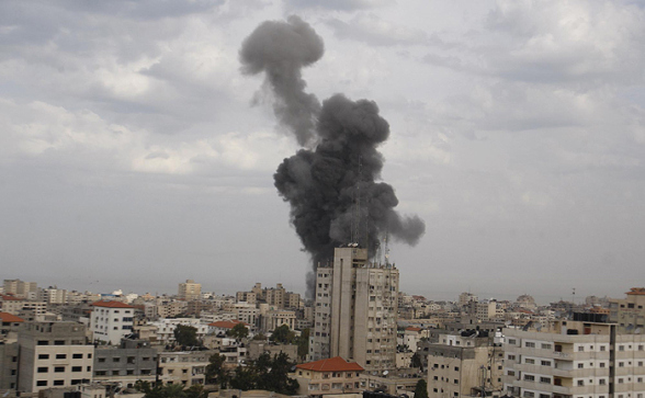 Gaza Under Attack - Nov 17, 2012 Photo by WAFA.ps