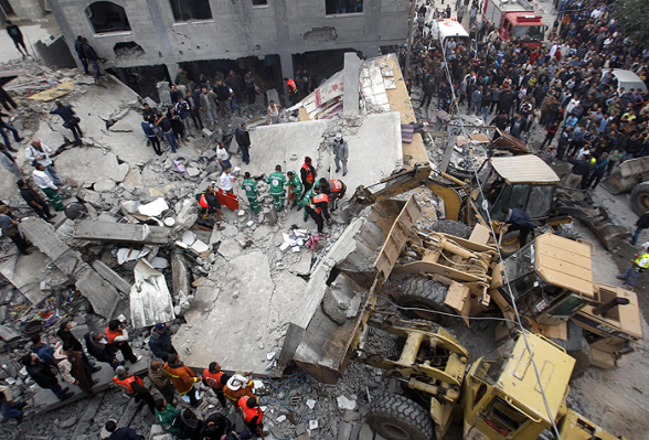 Nov 17 2012 Gaza Under Attack Israel | Photo via WAFA