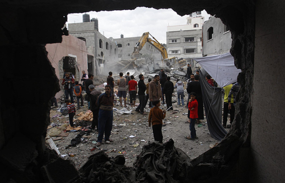 Nov 17 2012 Gaza Under Attack Israel | Photo via WAFA