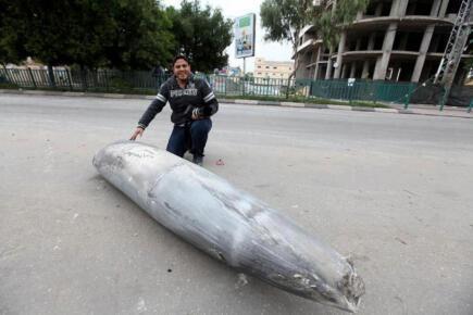 One of the bombs Israel dropped on Gaza Nov 17, 2012 - Photo via @ThisIsGaza