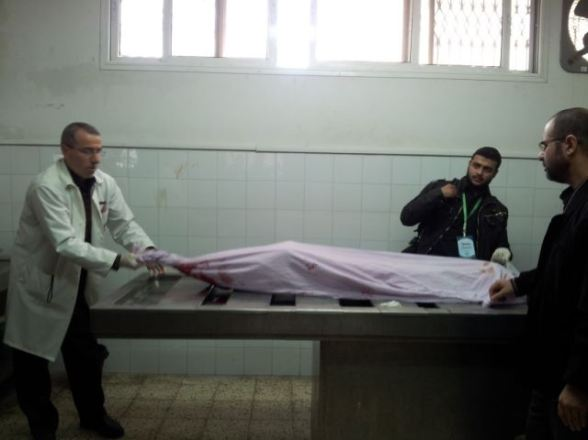 Body of 13 year old Tasneem, killed this morning. Nov 18, 2012