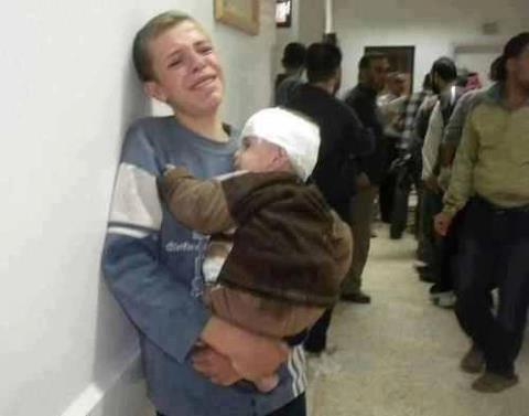 Children in the hospital. They just lost both their parents. Gaza Under Attack  Nov 19, 2012
