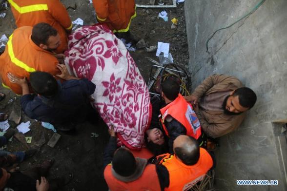 Gaza Under Attack  Nov 19, 2012 - Photo by Xinhua