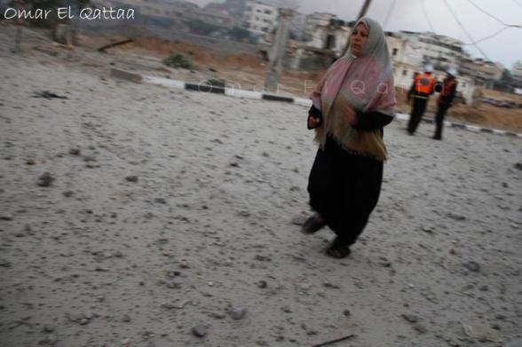 Gaza Under Attack  Nov 19, 2012 - Photo Omar el Qattaa