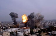 Gaza Under Attack :: November 21 2012 :: warplanes-bombed-the-area-around-yarmouk-stadium-in-gaza