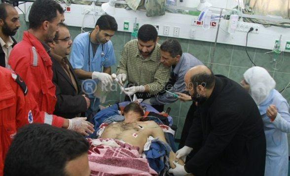 Gaza Under Attack - Nov 17, 2012 Photo by Raya.ps