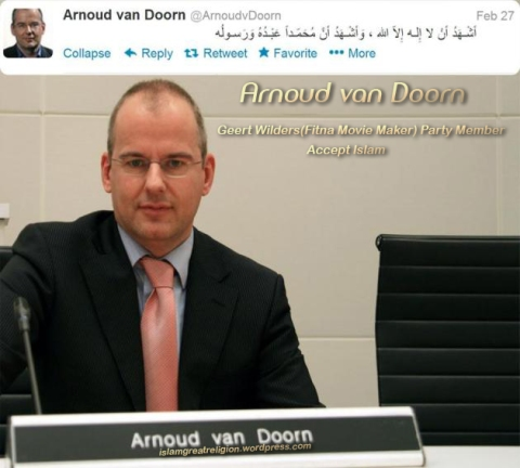 arnoud van doorn geert wilders party member convert to islam