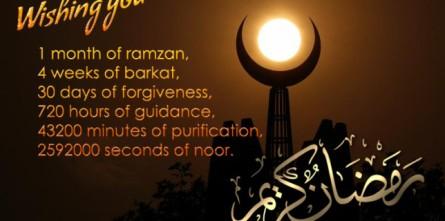 Beautiful New Ramadan greeting card 2014