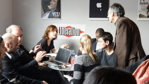 Surviving staff from the magazine worked on the new edition from Liberation's offices