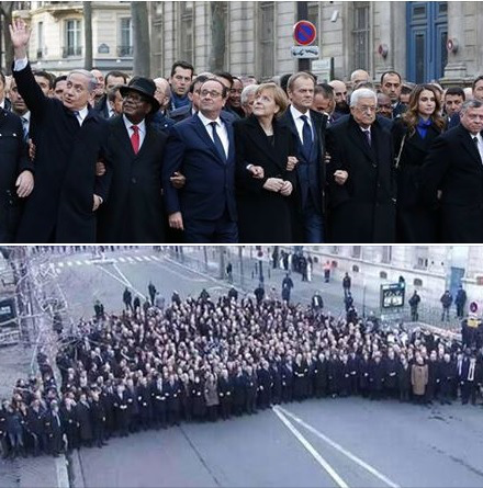 World leaders supporting freedom of speech march Charlie Hebdo France