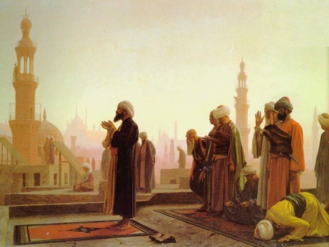 painting-old-times-muslims-praying